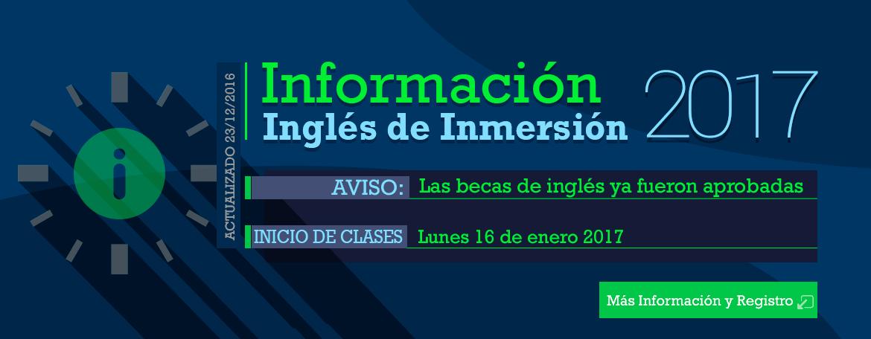 Convocatoria a Inglés de Inmersión 2017