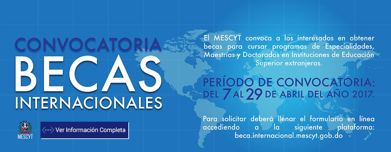 Convocatoria a Becas Internacionales 2017-2018