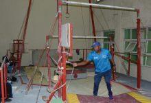 Deterioro del pabellón de gimnasia impide su avance en el país