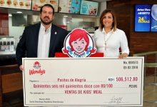 WENDY'S, entrega donativo a PASITOS DE ALERGRÍA