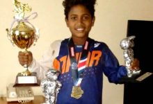 Niño dominicano se destaca en 'Minicross'