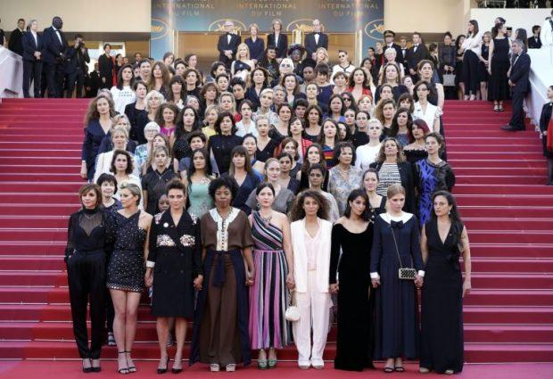 82 mujeres protestan en el Festival de Cannes