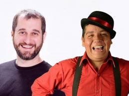 Carlos Sánchez y el mexicano Alan Saldaña, anuncian varios shows de humor.