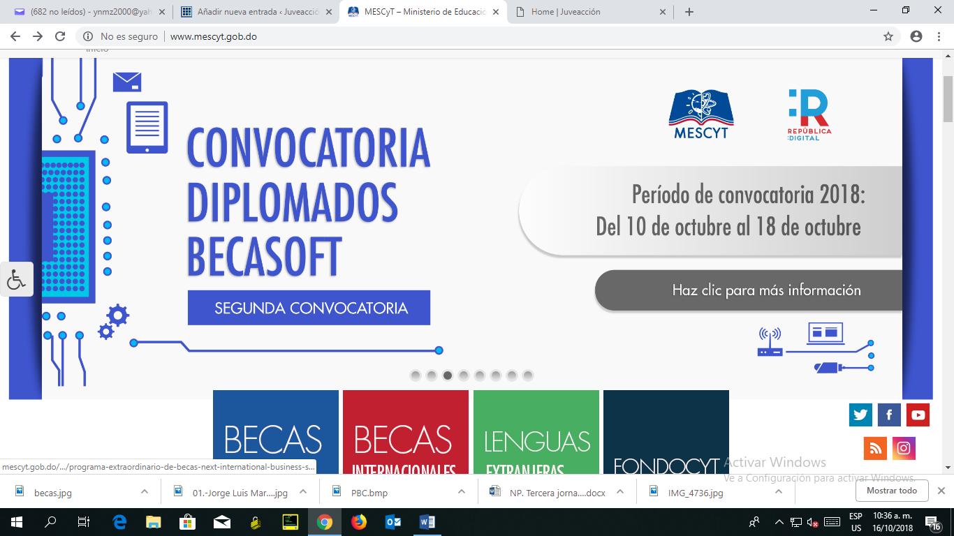 Convocatoria Diplomados Becasoft