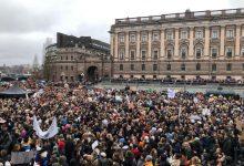 Estudiantes del protestan por cambio climático