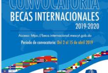Convocatoria a Becas Internacionales 2019-2020