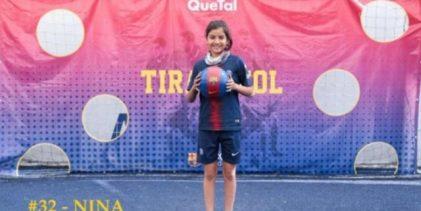 Niña mexicana que cautivó a la gente por una beca del Barça