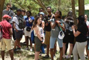 Jóvenes norteamericanos encantados con Jarabacoa