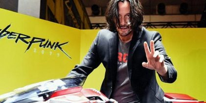 Keanu visitó Cyberpunk
