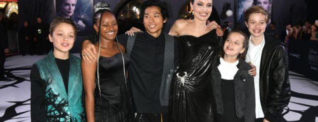 Los hijos de Angelina Jolie se roban el spotlight en el estreno de 'Maléfica 2'