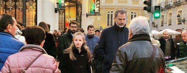 La princesa Leonor, de paseo por Madrid