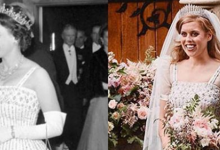 Princesa Beatriz usó un vestido de la Reina